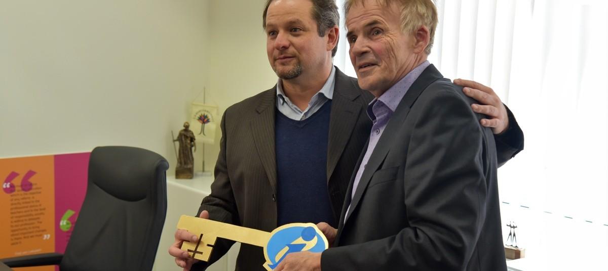David Edwards (left), Fred van Leeuwen