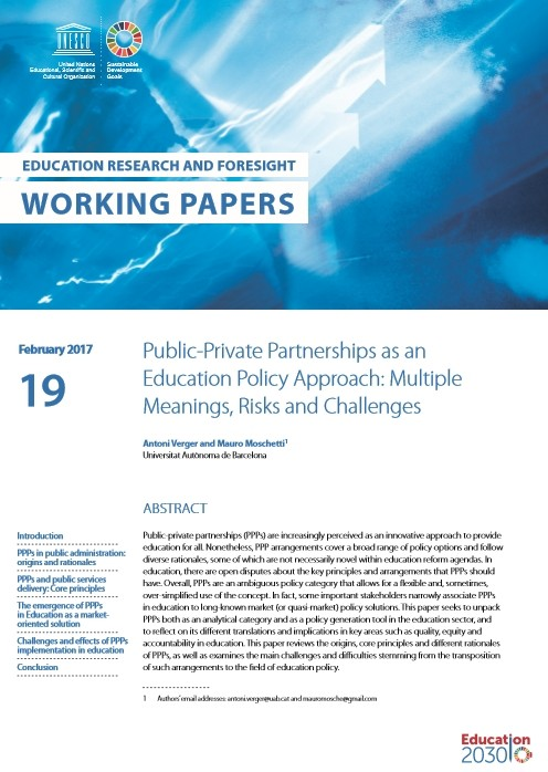 a paper on public and private education Public versus private secondary schools: a qualitative comparison public school, private school stake holders education facilities consequently private.