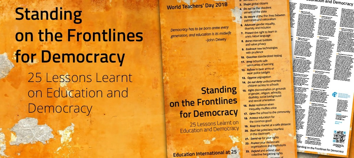 25 Lessons on Education and Democracy