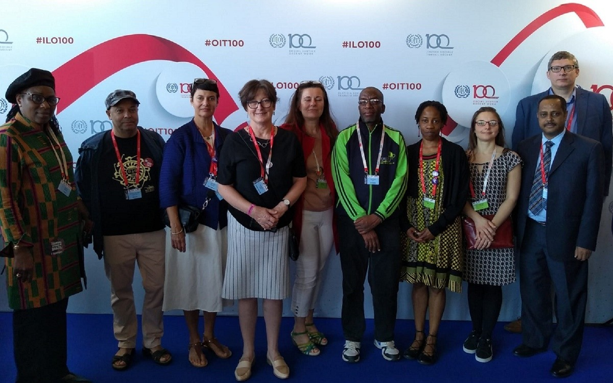 Members of the EI delegation to the 2019 ILC.