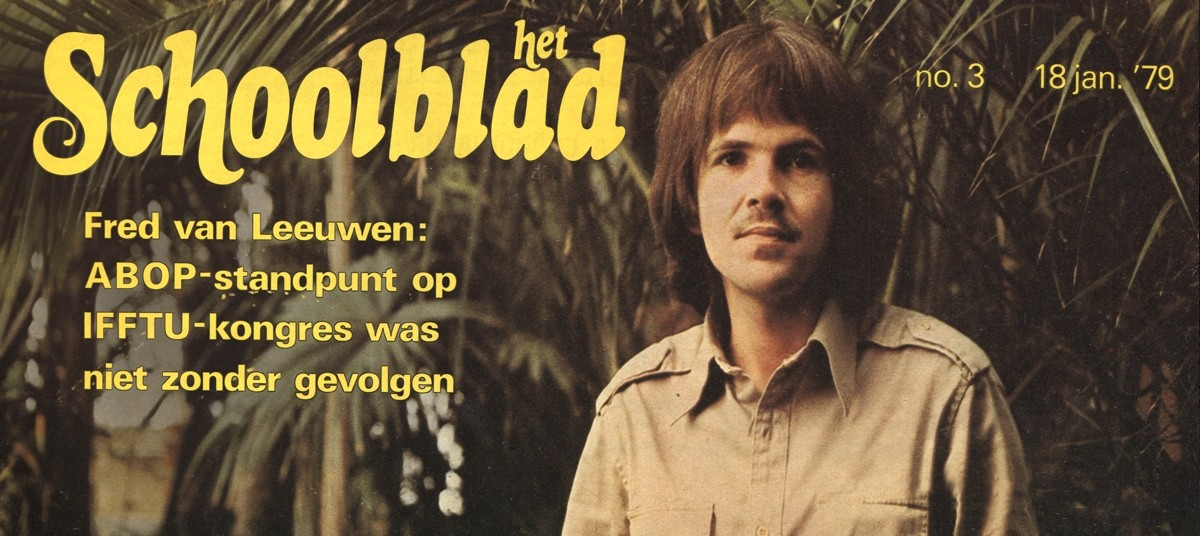 Fred van Leeuwen participated in his first international teacher trade union congress in the Philippines in 1979 - and reported back on the experience in his union's magazine, Het Schoolblad