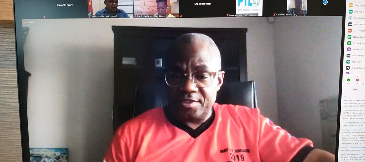 Mugwena Maluleke, SADTU General Secretary, during an online webinar