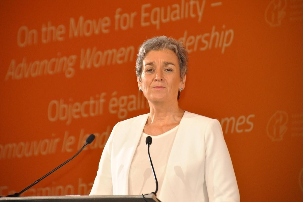 Former European Parliament's Vice-President Ulrike Lunacek.