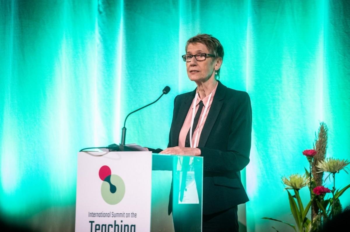 EI President Susan Hopgood addressing the 2019 ISTP in Helsinki, Finland.